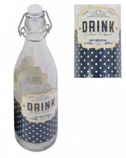 LORY Drahtbügelflasche 0, 5 Liter Glasflasche mit Bügelverschluss Retro Vintage