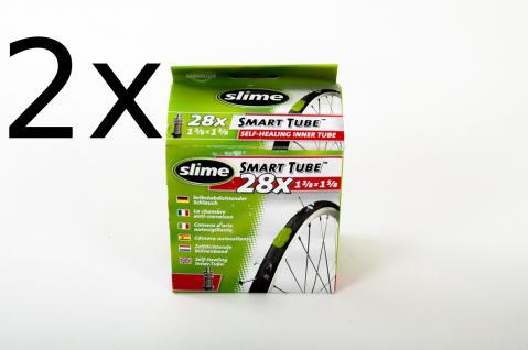 2x Slime Selbstabdichtender Fahrradschlauch