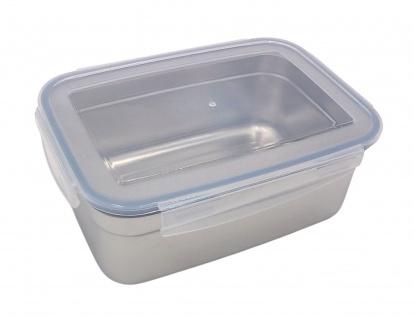 Edelstahl Frischhaltedose 1, 8 L Vorratsdose Brotdose Lunchbox Klickverschluss