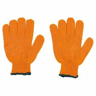 Arbeitshandschuhe Kreuzgrip Gr.10 orange Montagehandschuhe Sicherheit Schutz TOP