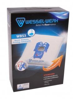 Wessel-Werk WBS3 4 Staubsaugerbeutel für Bosch Siemens Privileg Constructa