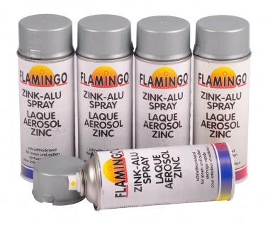 5x Zink Alu Spray grau 400ml hitzebeständig Rostschutz Korrosion Beschichtung