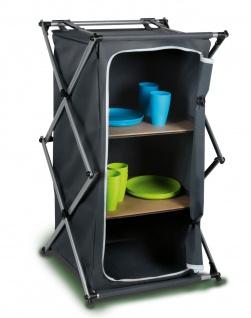 Campingschrank 53x49x95cm klappbar Klappschrank Aufbewahrung Küche Reise Zelt