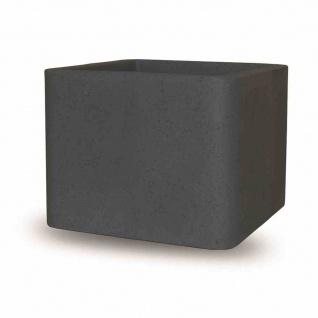 Cube 40cm schwarz-granit Pflanzgefäß Pflanzkasten Blumentopf Balkon Terrasse TOP