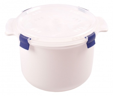 Mikrowellen Reiskocher 2, 6L + Löffel Dampfgarer Kochtopf Mikrowellengeschirr