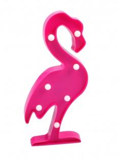 LED Flamingo 30cm pink Partydeko Wanddeko Dekofigur Vogel Dekolicht warmweiß - Vorschau 1