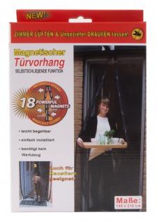 Insektenschutz Tür 210 x 100 cm Türvorhang magnetisch Fliegengitter Anthrazit
