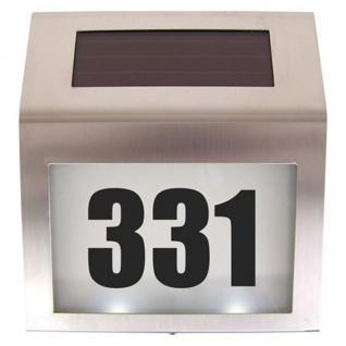 Edelstahl Solarhausnummer LED 18x20cm