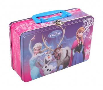 Lunchbox Eiskönigin Anna und Elsa Metalldose Frühstücksbox Brotdose Köfferchen