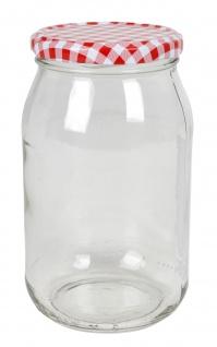 Einmachglas 900ml Vorratsglas Einweckglas Konservenglas Schraubdeckel kariert