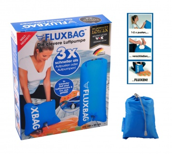 FLUXBAG Luftpumpe Luftmatratze Reisekissen Strandtasche Pumpe Strandutensilien