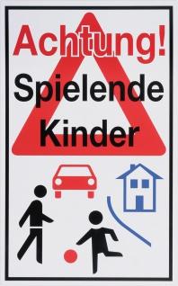 """METAFRANC SCHILD Hinweis-, Warn- und Verbotsschild ,, Spielende Kinder"""" 501110 Achtung Spiel. Kinder"""