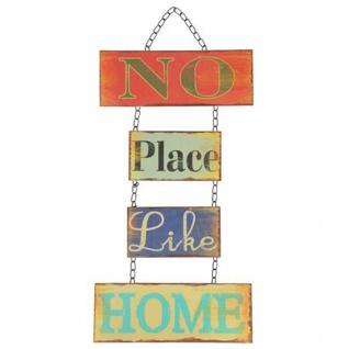 Dekoschild Home 52x26 Blechschild Türschild Wanddeko Türdeko Metallschild Shabby