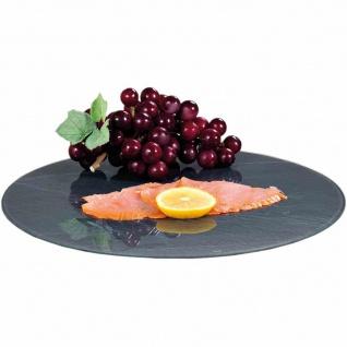 Drehplatte Servierplatte Schiefer Ø35, 5cm Platte Servieren Buffet Küche Kochen