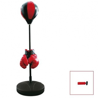 Kinder-Standboxsack Boxhandschuhe Boxbirne Punchingball Schlagbirne verstellbar