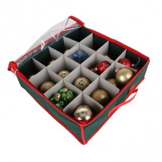 Weihnachtsdeko Aufbewahrungsbox mit Sichtfeld 38x38cm Faltbox Christbaumschmuck
