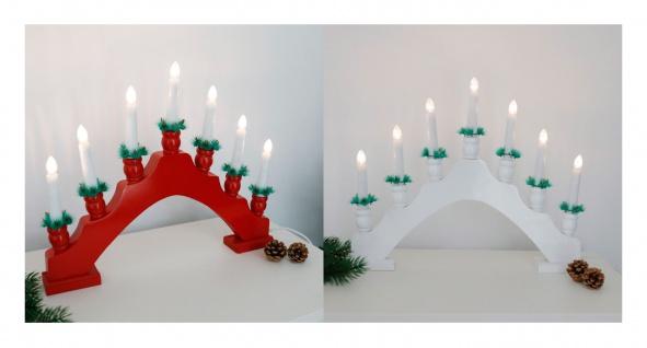 LED Holz-Lichterbogen Schwibbogen Schwedenleuchter Weihnachtsdeko Kerzenleuchter
