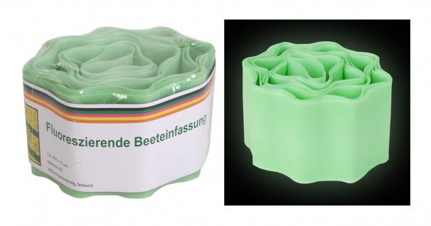 Fluoreszierende Beeteinfassung 6m Beetumrandung Rasenbegrenzung Rasenkante Deko