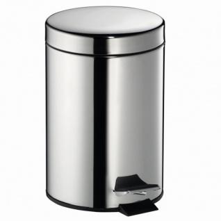 Treteimer rund 3l Edelstahl Mülleimer Abfalleimer Müllbehälter Mülltonne Müll