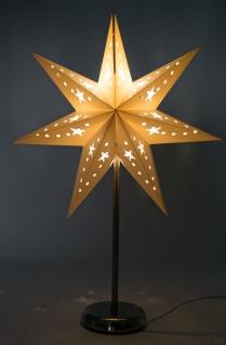 Sternenlampe 46cm Adventsstern Weihnachtsbeleuchtung Papierstern Weihnachtsdeko