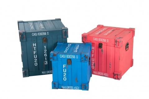 Truhen-Set 3tlg. Container Design Aufbewahrungskiste Holzkisten Dekokisten Truhe - Vorschau 1