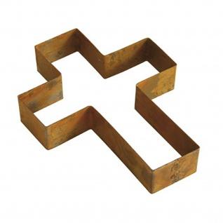 Bellissa® Corten Kreuz 33 x 25 cm Pflanzkreuz Grabschmuck Umrandung Edelrost