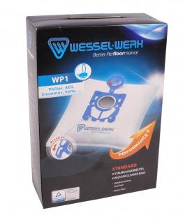 Wessel-Werk WP1 4 Staubsaugerbeutel Philips AEG Electrolux Hanseatic Privileg