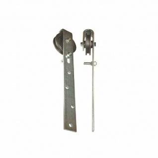 Schiebetürrolle 75 mm Grauguß, mit Stahlbügel