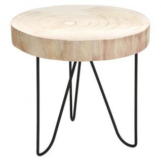 Dekotisch 29, 5x29cm Beistelltisch Pflanzenhocker Holztisch Nachttisch Ablage