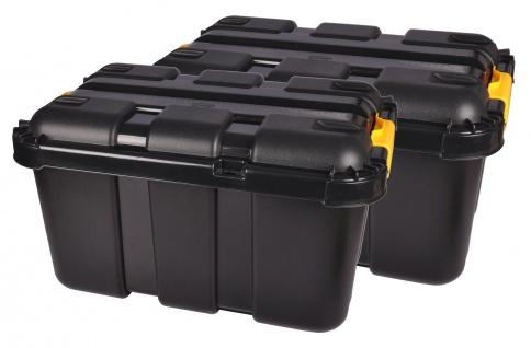 2x Werkstatt Box + Rollen 50 Liter Rollenbox Stapelbox Lagerbox Aufbewahrungsbox