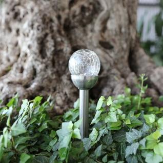 LED-Gartenlampe Crackle Glas Solarlampe Solarleuchte Gartenleuchte Gartendeko