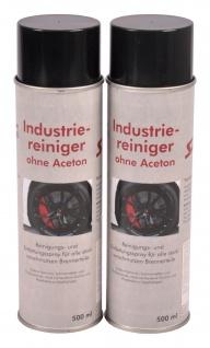 2x 500ml Industriereiniger Spray acetonfrei Reinigungsspray Entfettungsspray