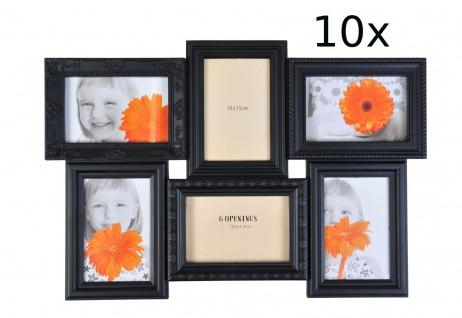 Antike Collage-Bilderrahmen 10er-Set Fotorahmen Multirahmen Fotogalerie schwarz