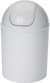 ap alpfa gmbh SCHWINGDECKELEIMER Schwingdeckelabfallbehälter 801037 7l Weiss