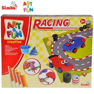 "Simba Art & Fun Knetset "" Racing"" Kinderspielzeug Knetspielzeug Knete Spielset"