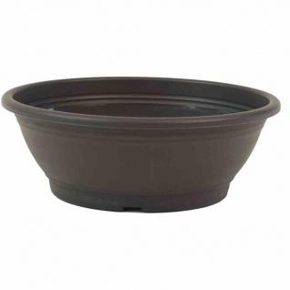 Schale Ø 30 x 10, 5 cm, anthrazit Rundes Kunststoffgefäß mit Bodenlöchern