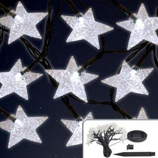 Solar-Lichterkette mit 24 LED Sterne Weihnachtsbeleuchtung Außenbeleuchtung Deko