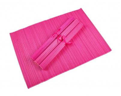Bambus Platzset 4er Platzdeckchen Tischmatten Platzmatte Untersetzer Tischdecke - Vorschau 4