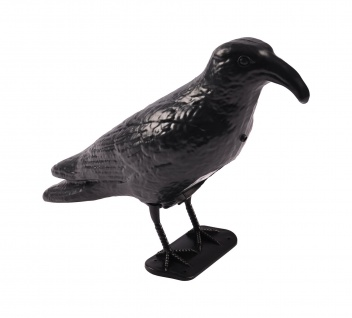 Taubenschreck Rabe mit Sensor Krähe Vogelabwehr Taubenabwehr Vogelscheuche Vogel