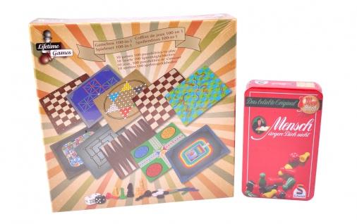 Spielesammlung 100 Spiele mit Reisespiel Gesellschaftsspiel Familienspiel