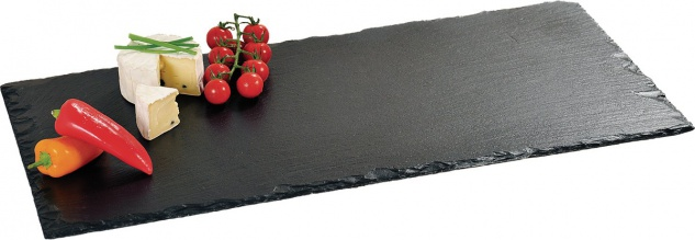 KESPER Schieferplatte 60x30cm Servierplatte Buffetplatte Untersetzer Platte