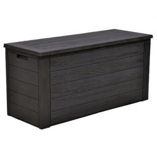2x Gartenkissenbox Holzoptik Gartentruhe Auflagenbox Kissenbox Aufbewahrungsbox - Vorschau 3