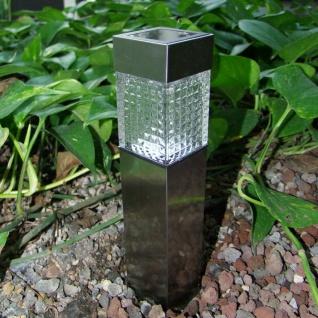3x Solar Gartenwegeleuchte 27, 7cm LED Gartenlampe Solarleuchte Außenleuchte Deko - Vorschau 4