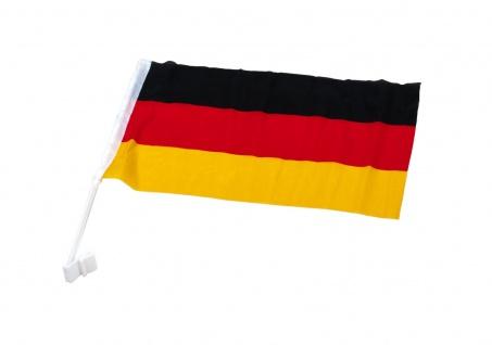 Fussball Deutschland Fahne 45x30cm Autofahne Autoflagge Flagge Fahne Fanartikel - Vorschau