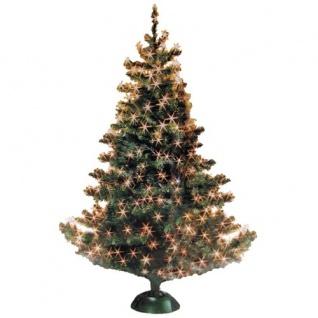 Lichternetz 192 LED warmweiß Lichterkette Lichtervorhang Weihnachtsbeleuchtung