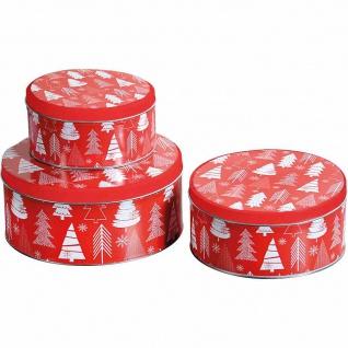 Weihnachtsdosen 3er-Set Christmas tree
