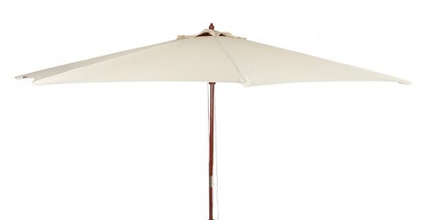 Holz-Sonnenschirm 3m beige Gartenschirm Terrassenschirm Marktschirm Sonnenschutz