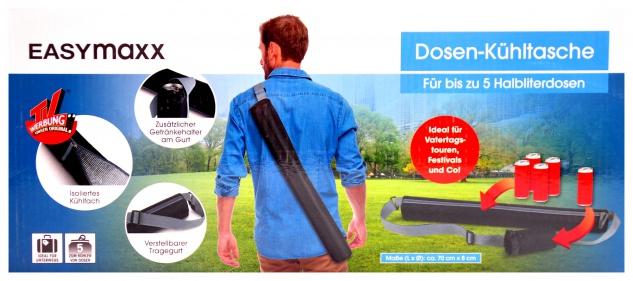 EASYmaxx Dosen-Kühltasche Kühlbox Getränkehalter Vatertag Festival Thermotasche