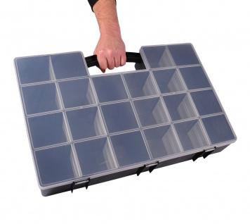XXL Organizer 59x39, 5x10cm Sortimentskasten Schraubenbox Bastelbox Aufbewahrung