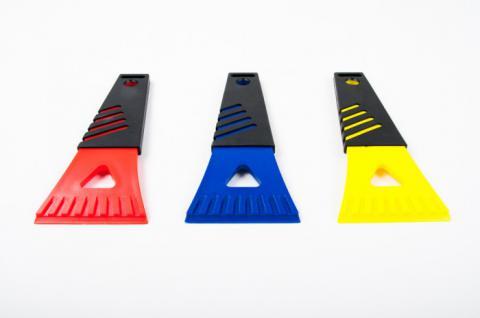 Mini-Eisschaber mit Softgriff 18cm Auto Eiskratzer Scheiben-Enteiser Kunststoff